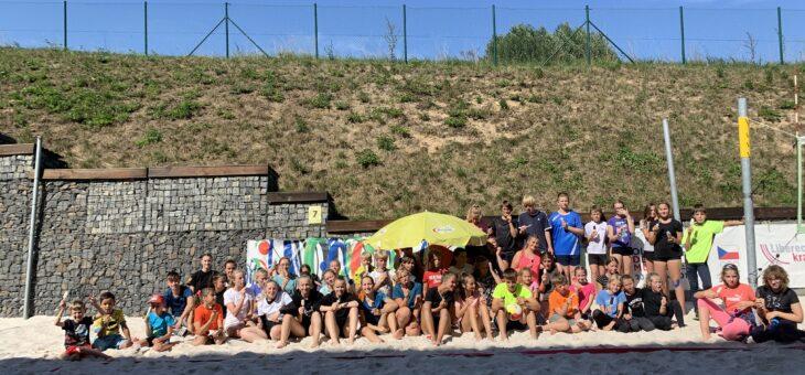 LÍBÍ SE TI BEACHVOLEJBAL ! Zveme tě do největšího volejbalového klubu v Libereckém kraji s největší pevnou halou v ČR s pěti beachvolejbalovými kurty a 3 venkovními kurty. Přijímáme začátečníky všech věkových kategorií( do 18 let :-)). Dále máme kroužky zájmové a tréninky pro výkonnostní hráče. Trénovat tě budou zkušení trenéři s šéftrenérem Martinem Nečasem. Přijít můžeš v září každé pondělí a čtvrtek od 16:30, kdy si můžeš zdarma vyzkoušet trénink. S sebou potřebuješ pouze sportovní oblečení . Odkaz na cenu a rozložení tréninků : https://www.beachliberec.cz/treninky-2/